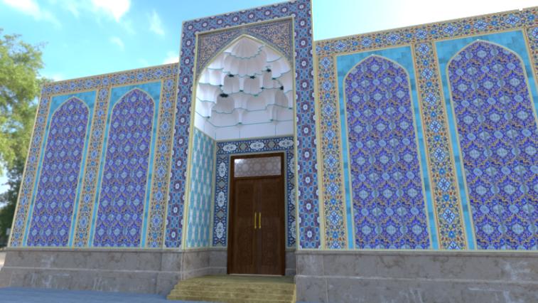 طراحی نما و سردرب مسجد